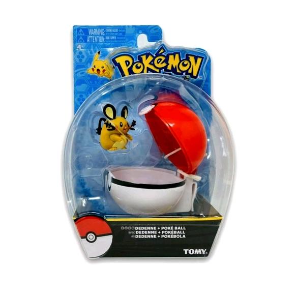 Pokemon Poke Ball + Dedenne Figure